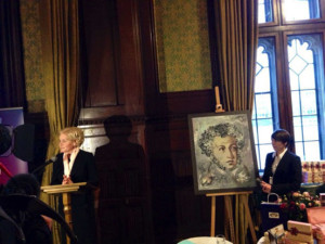 Pushkin work exhibited at The Houses of Parliament, London, February 2014