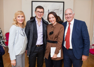 With Sasha and Nicolae Ratiu at the opening of Under Construction exhibition, Ratiu Family Charitable Foundation, London, October 2016