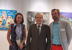 With Satybaldy Burshakov Deputy Permanent delegate of Kazakhstan to UNESCO and Secretary General of the Andorran National Commission for UNESCO Mr Jean-Michel Armengol at the UNESCO Paris 2017.